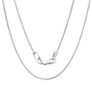 14k White Gold Snake Chain (1 mm)