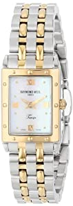 Raymond Weil Women's 5971-STP-00915 Tango Rectangular Two-Tone Mother-Of-Pearl Dial Watch