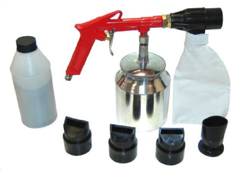 TCPglobal Brand Air Sand Blasting Gun with Sand Recovery System (Includes Abrasive)