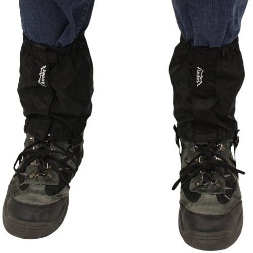 Andes Black Waterproof Walking Hiking Boot Ankle Gaiters Outdoor Trekking