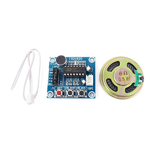 uxcell® ISD1820 Sound Voice Audio Mic Recording Playback Module w Loudspeaker (Sound Recording Module compare prices)