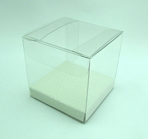 Geschenkbox transparent, Gastgeschenk, Geschenkverpackung, Geschenkschachtel (60 x 60 x 60 mm)
