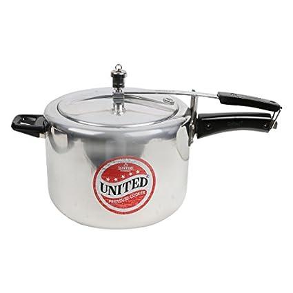 United-Aluminium-10-L-Pressure-Cooker-(Inner-Lid)