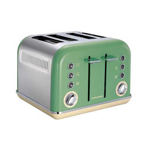 Morphy Richards 750 Watts: Morphy Richards 242002 Accents 4 Slice Toaster, 1800 Watt