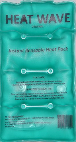 HEAT WAVE Instant Reusable Heat Pack - Medium (5 x 9 inch size) - Premium Quality - Medical Grade - made in USA (not China) (Instant Heat Pack Reusable compare prices)