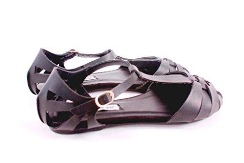 J200H Sandalo donna stile ragno (36, Nero)