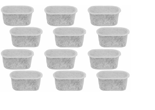 Cuisinart DCC-RWF Replacement Charcoal Water Filters for Cuisinart Coffee Machine Coffee Maker (12 Filter Cartridges)