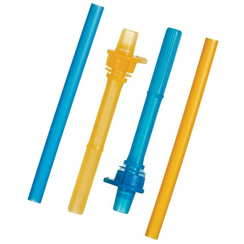 Munchkin Click Lock Replacement Straws with Valves - 2 Pack - Blue/Orange