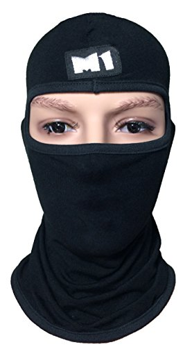 M1-Fleece-Full-Face-Cover-Balaclava-Protecting-Plain-Mask-Black-BALA-NFIL-BLCK