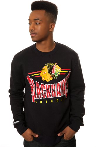 Mitchell & Ness Men's Chicago Blackhawks Sweatshirt Extra Extra Large Black at Amazon.com