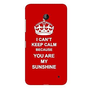 Skin4gadgets I CAN'T KEEP CALM BECAUSE YOU ARE MY SUNSHINE - Colour - Red Phone Skin for NOKIA LUMIA 630
