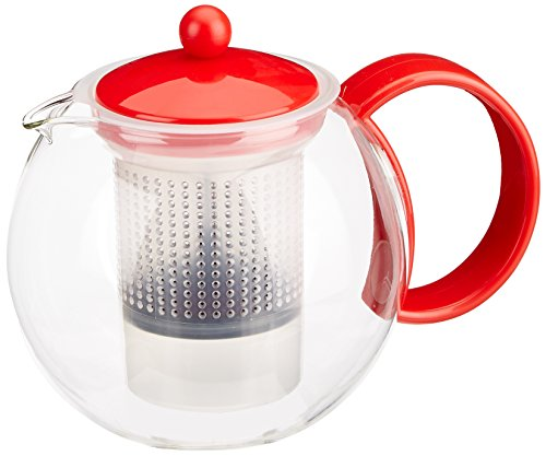 Bodum Assam Tea Press, 34-Ounce, Red (Bodum Hot Water Kettle 34 Oz compare prices)