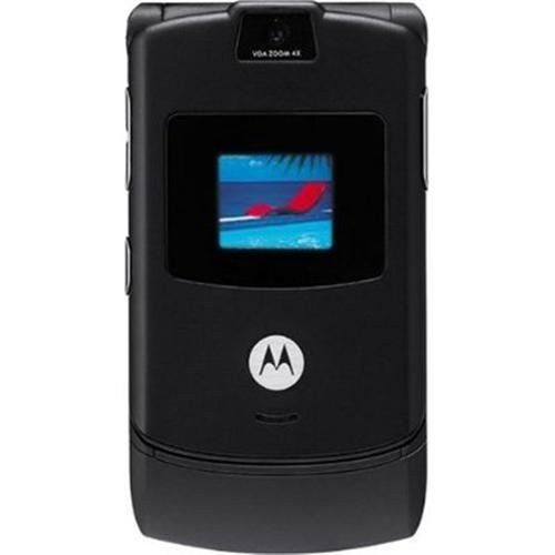 Motorola RAZR V3 Unlocked Phone with Camera, and Video Player–International Version with No Warranty (Black)