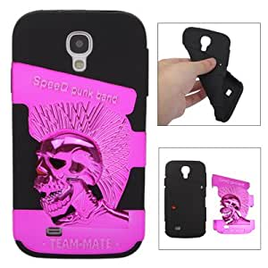 Skull Design Soft Silicon Case Cover for Samsung Galaxy S4 / i9500 (Magenta)