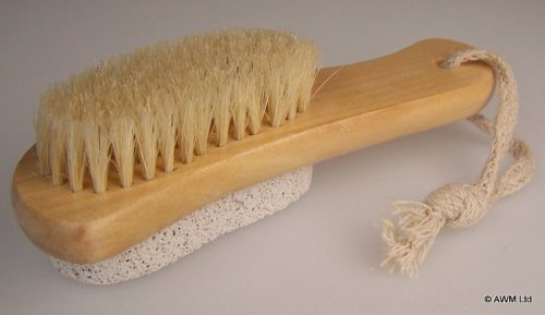 Scrub and Scrape PUMICE STONE Backed BRUSH for feet by BCBGMAXAZRIA