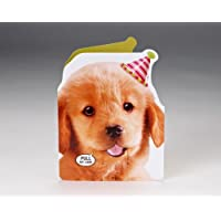 Talking Heads Puppy Surprise Birthday Card