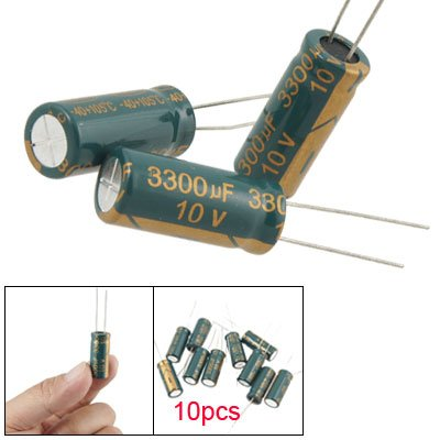 10Pcs 10V 3300UF Motherboard Electrolytic Capacitor Radial