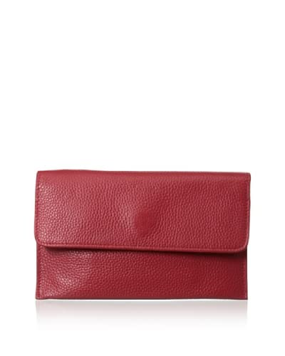 Zenith Women's Flap Wallet, Red