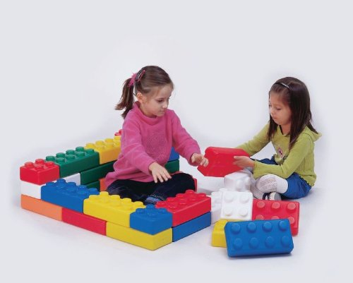 School Smart Building Blocks - Set Of 75 - Assorted Sizes And Colors front-854872