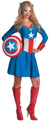 Disguise Inc - Captain America Female Classic Adult Costume - Small (4-6)