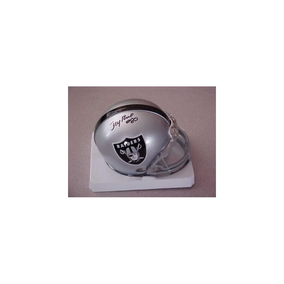 Jerry Rice Hand Signed Autographed Oakland Raiders Riddell Football Mini Helm