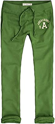 Abercrombie & Fitch Men's Slim Straight Fit Sweatpants XS Green