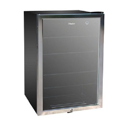 Haier HBCN05FVS 150-Can Beverage Center (Mini Fridge Glass Front Door compare prices)
