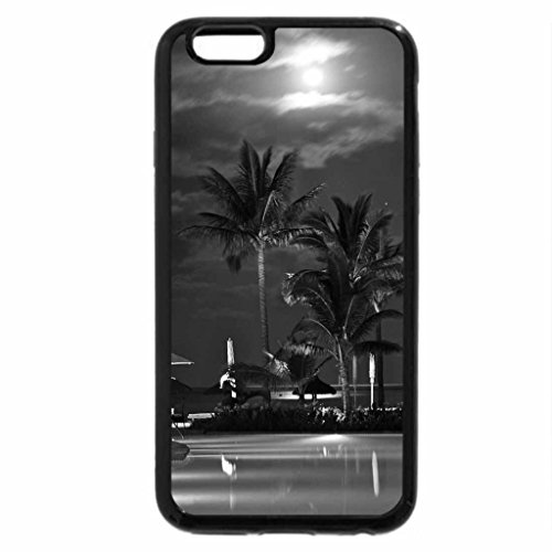 iPhone 6S Case, iPhone 6 Case (Black & White) - Poolside Night