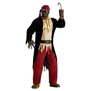 Adults Scary Zombie Dead Pirate Fancy Dress Complete Halloween Costume One Size