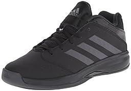 adidas Performance Men\'s Isolation 2 Low Basketball Shoe, Black/Black/Dark Grey, 8 M US