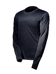 Justin Charles Merino Wool Crew Neck Large Black