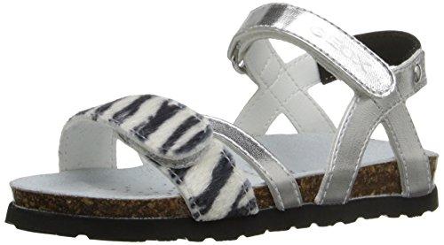 New J Geox Aloha G, Sandali da ragazza, Argento (Silver (C0474)), 35