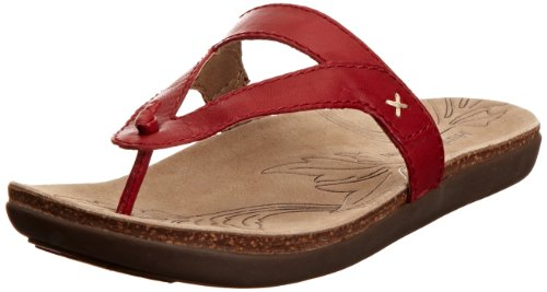 Hush Puppies Women's Beauty Red Thong Sandals