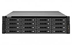 Qnap 16-Bay Rackmount NAS with ECC memory, Intel Quad Core Xeon E3-1225 Processor 3.1 GHz, 4GB DDR3 ECC RAM and Redundant Power (TS-EC1679U-RP-US)