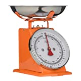 Premier Housewares 5 kg Retro Kitchen Scale, Orange