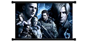 """Resident Evil 6 Game Fabric Wall Scroll Poster (32"""" x 20"""") Inches"""