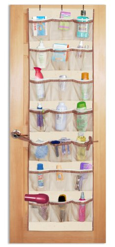 42-Pocket Over-the-Door Organizer, Natural Canvas