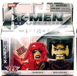 Picture of Art Asylum Marvel Minimates X-Men 3 The Last Stand Variant pack Phoenix and Wolverine figure 2-pack (B001UCESGE) (X-Men Action Figures)