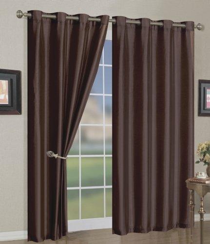 Bedinabag mira grommet window curtain panels 58 x 108 for 108 window treatments