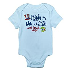 CafePress Made in the USA with French Parts Infant Creeper French Infan - 18-24M Sky Blue