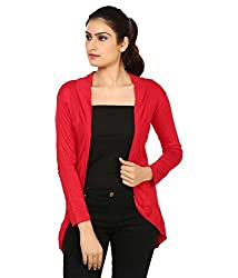 Haniya Womens Shrug (H_10_Red _Medium)