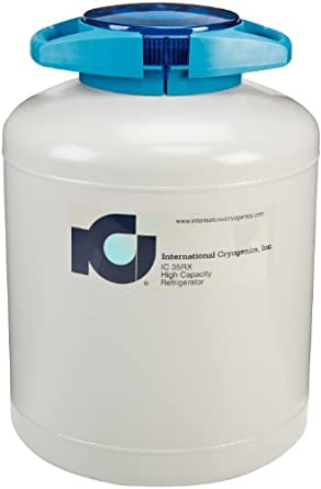 International Cryogenics LN2 Liquid Nitrogen Refrigerator, 35L, 6 Canisters