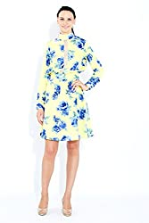 Naomi Code Women Full Sleeves Floral Dress