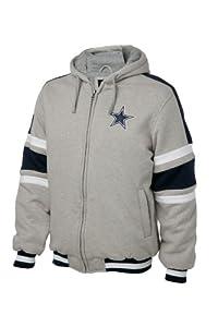 Dallas Cowboys Grey Fleece Hooded Full-zip Jacket by Dallas Cowboys Merchandise