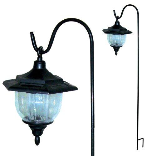 Solar Garden Coach Light Lantern with Hooks