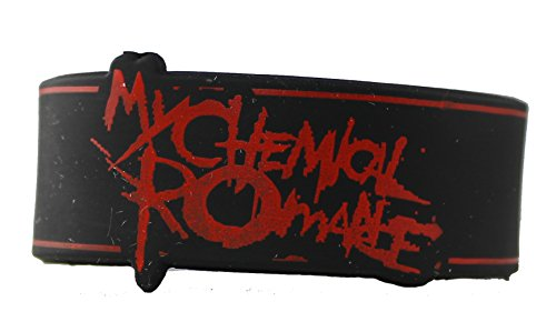 Licenses Products My Chemical Romance Logo Rubber Wristband