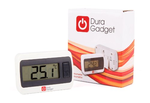 DURAGADGET Indoor LCD Room Temperature Thermometer/Gauge With Stand And Digital Display - Perfect For Use In The Office Or At Home