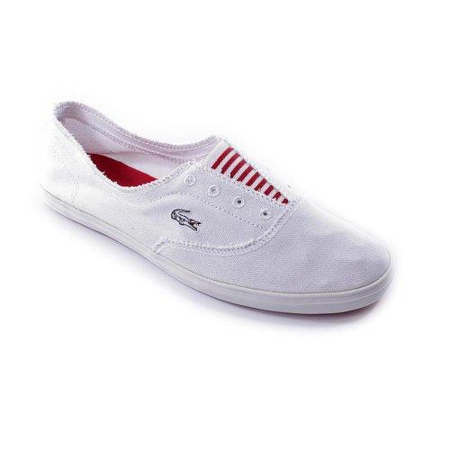 Lacoste Women'S Solano Slip Slip-On,White/Red,9 M Us