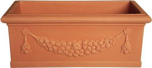 Cassetta Festonata IDRA - Cm 60x27,5x27H in resina-plastica di vari colori - Fioriera Giardino Piante