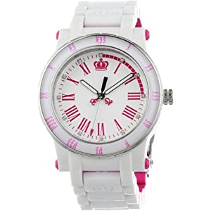 Juicy Couture Women's 1900750 HRH White and Pink Plastic Bracelet Watch